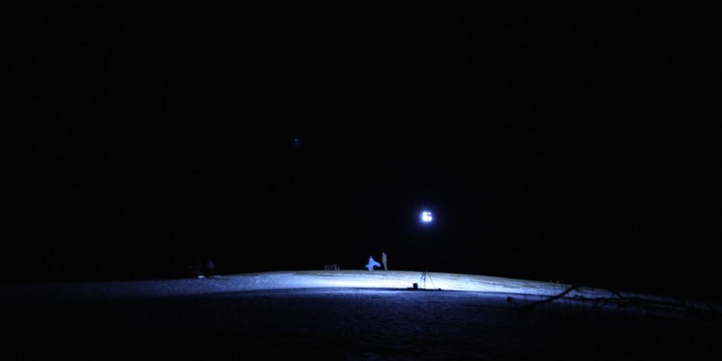 Bilde fra innspillingen av Mørkeredd